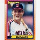 1990 Topps Baseball #419 Beau Allred RC - Cleveland Indians