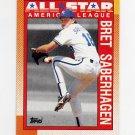 1990 Topps Baseball #393 Bret Saberhagen AS - Kansas City Royals