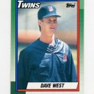 1990 Topps Baseball #357 Dave West - Minnesota Twins