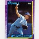 1990 Topps Baseball #350 Bret Saberhagen - Kansas City Royals