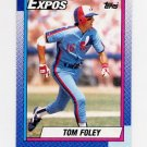 1990 Topps Baseball #341 Tom Foley - Montreal Expos