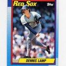 1990 Topps Baseball #338 Dennis Lamp - Boston Red Sox