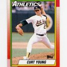 1990 Topps Baseball #328 Curt Young - Oakland A's
