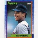 1990 Topps Baseball #327 Ken Williams - Detroit Tigers