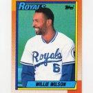1990 Topps Baseball #323 Willie Wilson - Kansas City Royals