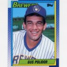 1990 Topps Baseball #313 Gus Polidor - Milwaukee Brewers