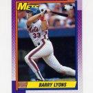 1990 Topps Baseball #258 Barry Lyons - New York Mets