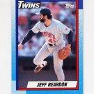 1990 Topps Baseball #235 Jeff Reardon - Minnesota Twins