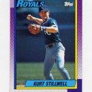 1990 Topps Baseball #222 Kurt Stillwell - Kansas City Royals