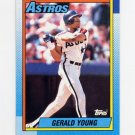 1990 Topps Baseball #196 Gerald Young - Houston Astros