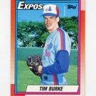 1990 Topps Baseball #195 Tim Burke - Montreal Expos