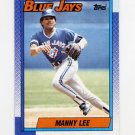 1990 Topps Baseball #113 Manny Lee - Toronto Blue Jays