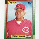 1990 Topps Baseball #110 Tommy Helms MG - Cincinnati Reds