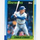 1990 Topps Baseball #106 Charlie O'Brien - Milwaukee Brewers