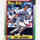 1990 Topps Baseball #070 Mike Greenwell - Boston Red Sox