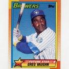 1990 Topps Baseball #057 Greg Vaughn - Milwaukee Brewers