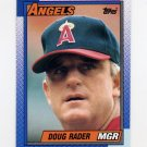 1990 Topps Baseball #051 Doug Rader MG - California Angels