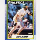 1990 Topps Baseball #045 Dave Parker - Oakland A's