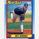 1990 Topps Baseball #038 Wes Gardner - Boston Red Sox