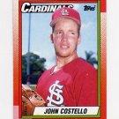 1990 Topps Baseball #036 John Costello - St. Louis Cardinals