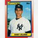 1990 Topps Baseball #023 Randy Velarde - New York Yankees