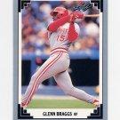 1991 Leaf Baseball #362 Glenn Braggs - Cincinnati Reds