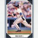 1991 Leaf Baseball #320 Mike Heath - Atlanta Braves
