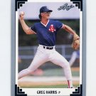 1991 Leaf Baseball #083 Greg A. Harris - Boston Red Sox