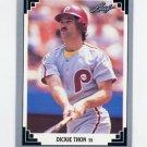 1991 Leaf Baseball #060 Dickie Thon - Philadelphia Phillies