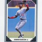 1991 Leaf Baseball #025 Shawon Dunston - Chicago Cubs