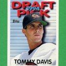1995 Topps Baseball #555 Tommy Davis RC - Baltimore Orioles