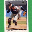 1995 Topps Baseball #493 Jorge Fabregas - California Angels
