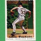 1995 Topps Baseball #491 John Burkett - San Francisco Giants