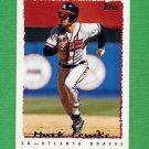 1995 Topps Baseball #486 Mark Lemke - Atlanta Braves