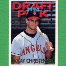 1995 Topps Baseball #473 McKay Christensen RC - California Angels