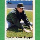 1995 Topps Baseball #407 Todd Van Poppel - Oakland A's