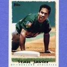 1995 Topps Baseball #338 Stan Javier - Oakland A's