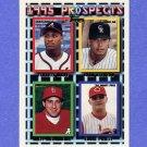 1995 Topps Baseball #316 Eddie Priest RC / Terrell Wade / Juan Acevedo / Matt Arrandale
