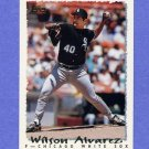 1995 Topps Baseball #186 Wilson Alvarez - Chicago White Sox