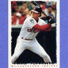 1995 Topps Baseball #132 Paul Sorrento - Cleveland Indians