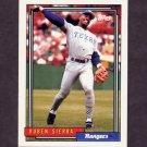1992 Topps Baseball #700 Ruben Sierra - Texas Rangers