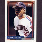 1992 Topps Baseball #671 Mark Whiten - Cleveland Indians