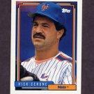 1992 Topps Baseball #643 Rick Cerone - New York Mets