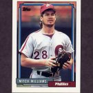 1992 Topps Baseball #633 Mitch Williams - Philadelphia Phillies