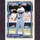 1992 Topps Baseball #627 Mike Sharperson - Los Angeles Dodgers