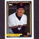 1992 Topps Baseball #573 Kelly Downs - San Francisco Giants