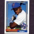 1992 Topps Baseball #554 Donald Harris - Texas Rangers