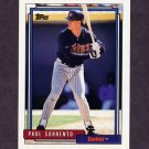1992 Topps Baseball #546 Paul Sorrento - Minnesota Twins