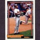 1992 Topps Baseball #492 Mike Devereaux - Baltimore Orioles