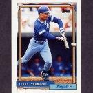 1992 Topps Baseball #483 Terry Shumpert - Kansas City Royals